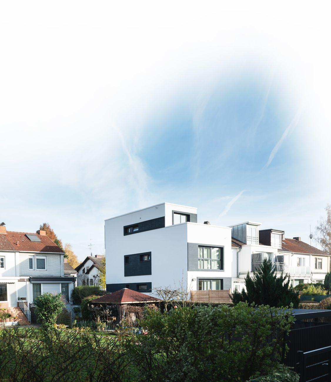 Wohnraumerweiterung eines Reihenendhauses, Frankfurt am Main - Rödelheim, Deutschland